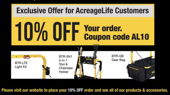 AcreageLife readers can get 10% off your order