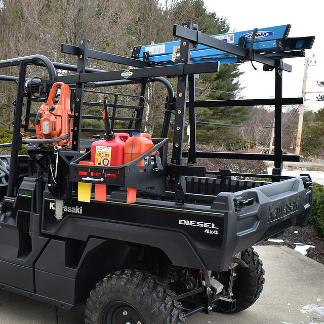 Keep tools readily at hand with this UTV mounted tool rack