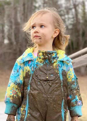 'Kidwoods' enjoying muddy time