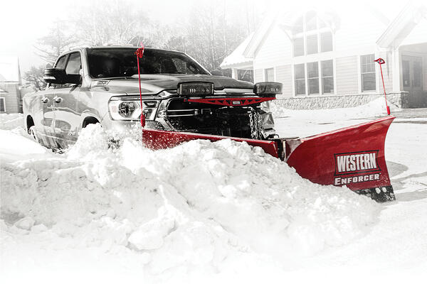 The all-new Western ENFORCER v-plow for half ton trucks