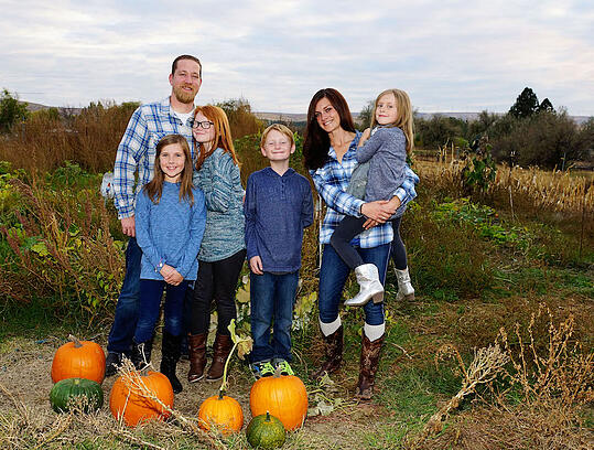 Mike and Jessica Dilger and family