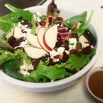 A maple apple salad from the family's cafe