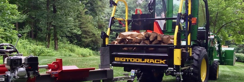 BigToolRack on John Deere tractor, with trailer