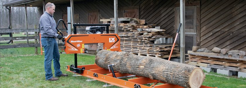 LX25 Sawmill in action