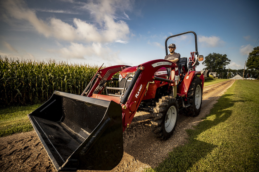 Massey Ferguson compact tractor with loader