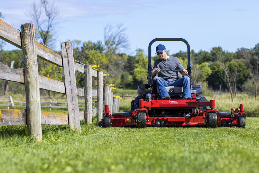 Mowing next to fence