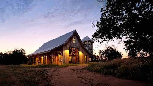 A breathtaking view of a barn home