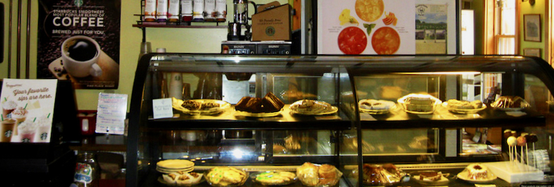 Cafe front counter--the beginning of food waste