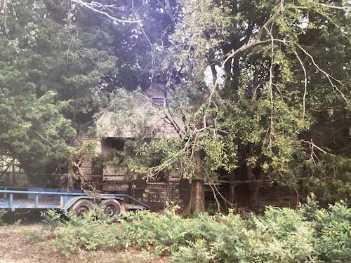 The landowner didn't even know there was a house on the back of the property