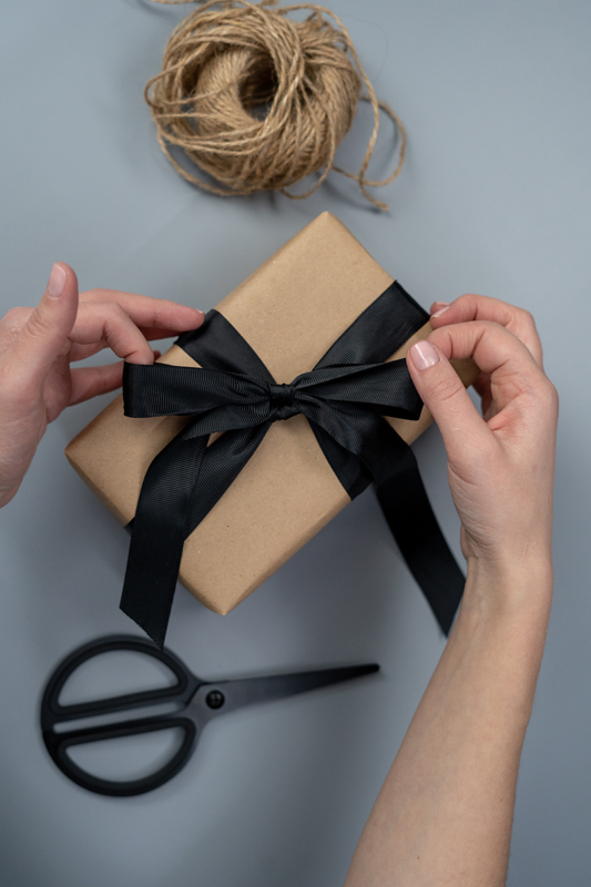Brown paper is a blank slate for your gift wrapping