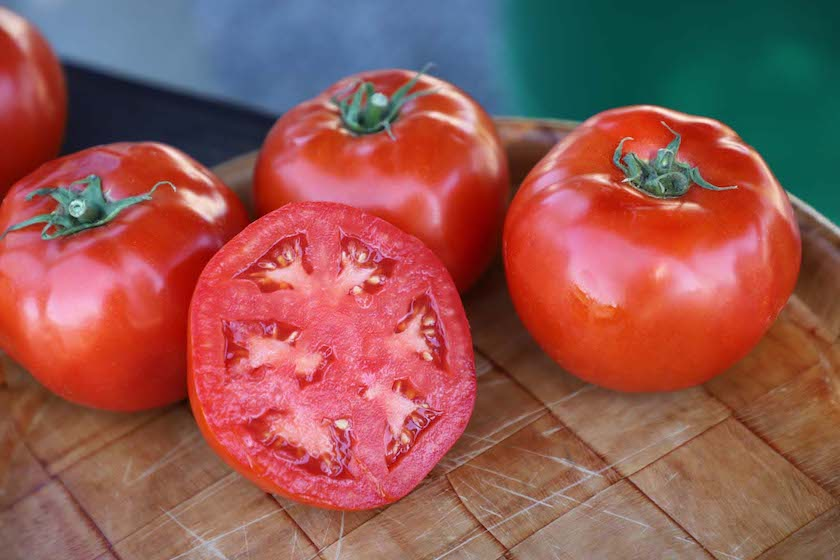 A beautiful red snapper tomato