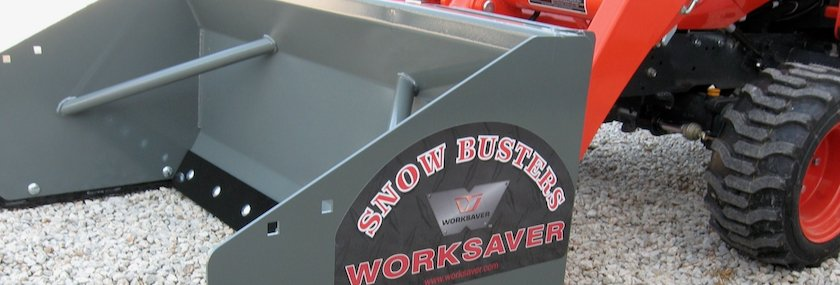 Worksaver 20-series snow pusher